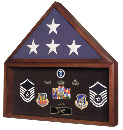 Walnut Flag Display Case image
