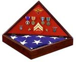 Heritage Walnut Flag Display Case image